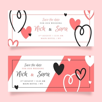 Elegant wedding banner template