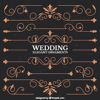 Elegant wedding borders