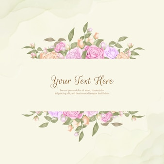 バラと葉を持つエレガントなウェディングブーケ
