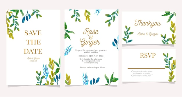 Elegant wedding card invitation