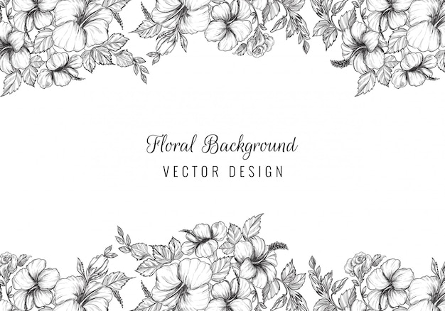 Elegant wedding decorative floral background