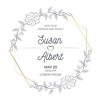 Elegant wedding floral frame design