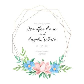 Design elegante cornice floreale di nozze