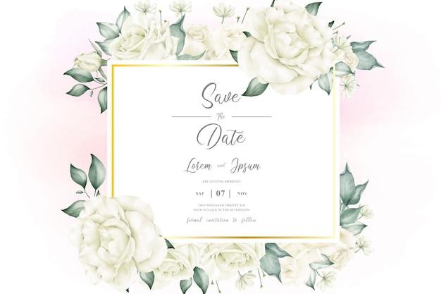 エレガントな結婚式の招待状の背景