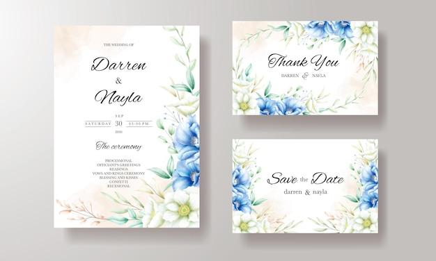 Элегантный дизайн свадебного приглашения с красивым цветочным декором