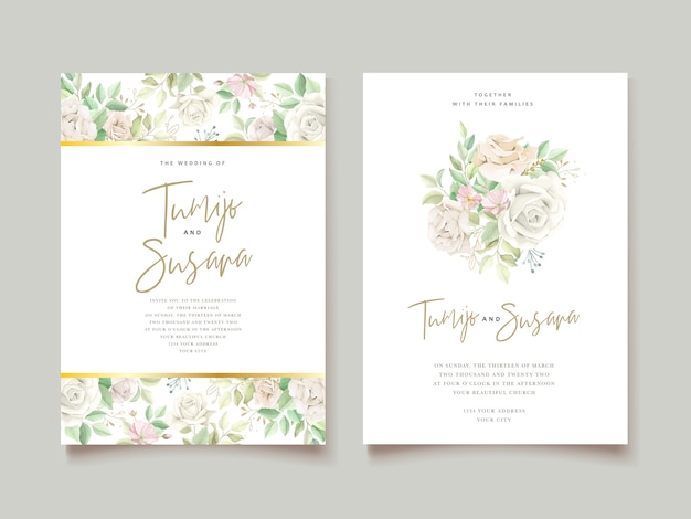 Elegant wedding invitation card set
