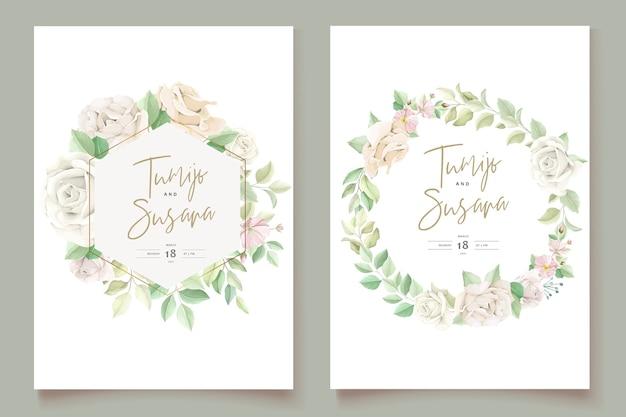 Elegant wedding invitation card set