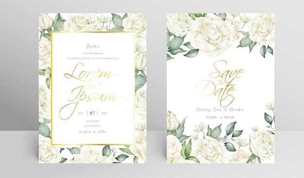 エレガントな結婚式の招待カードのテンプレート