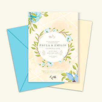 우아한 결혼식 초대 카드 서식 파일