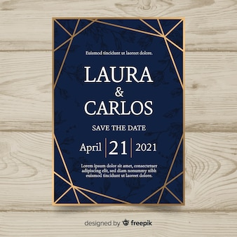 Elegant wedding invitation card template