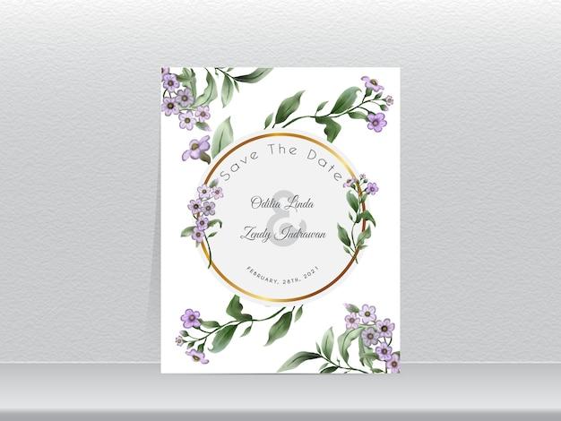 Элегантный свадебный пригласительный билет с акварелью