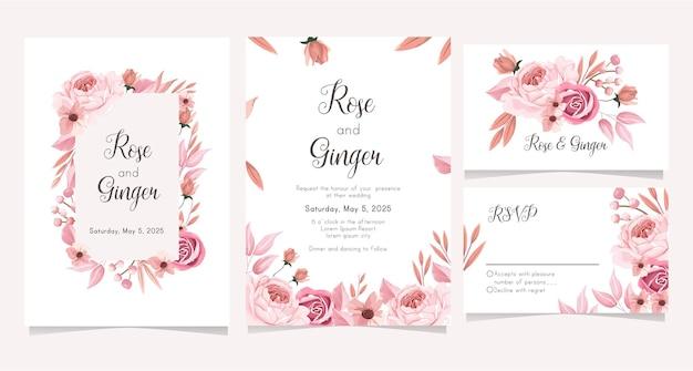 Элегантный свадебный пригласительный билет