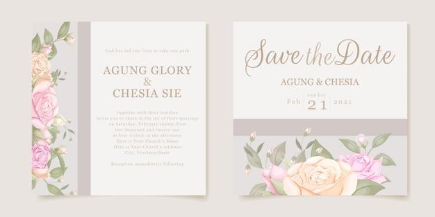 Elegant wedding invitation concept instagram post