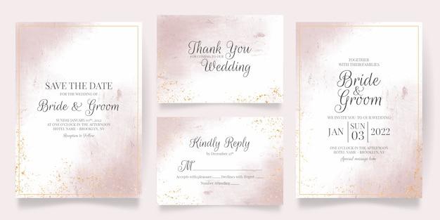 Elegant wedding invitation concept