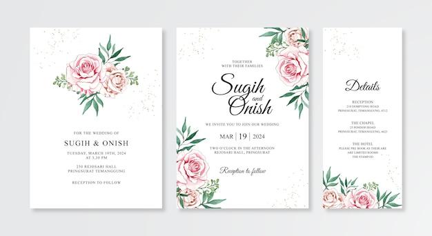 우아한 결혼식 초대 개념