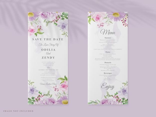 Элегантное свадебное приглашение с цветочным дизайном