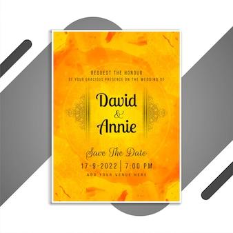 Elegant wedding invitation stylish card template