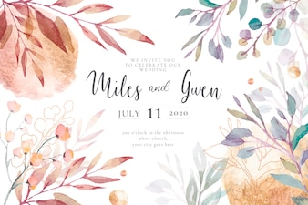 Elegant Wedding Invitation Template Ready to Print