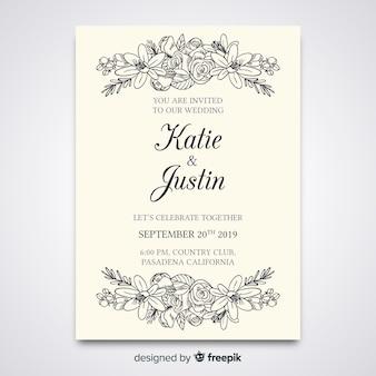 Elegant wedding invitation template