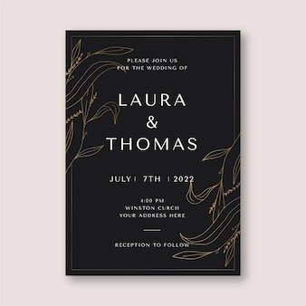 Elegant wedding invitation template