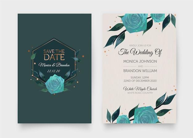 우아한 결혼식 초대장 템플릿