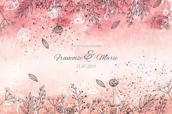 金色の背景を持つエレガントな結婚式の招待状