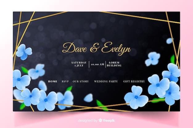 Elegant wedding landing page template