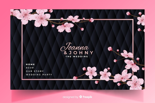 Elegant wedding landing page template