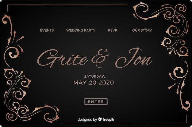 Elegant wedding landing page
