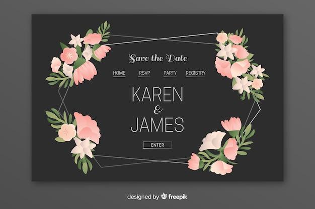 Elegante pagina di destinazione per matrimoni