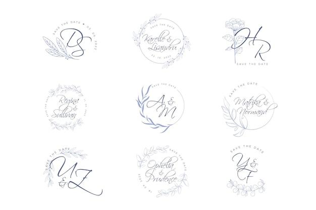 Elegant wedding logos