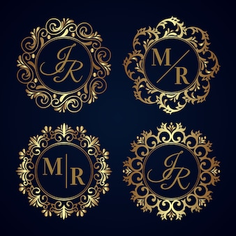 Elegant wedding monogram collection design