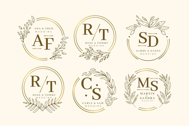 Elegant wedding monogram collection template
