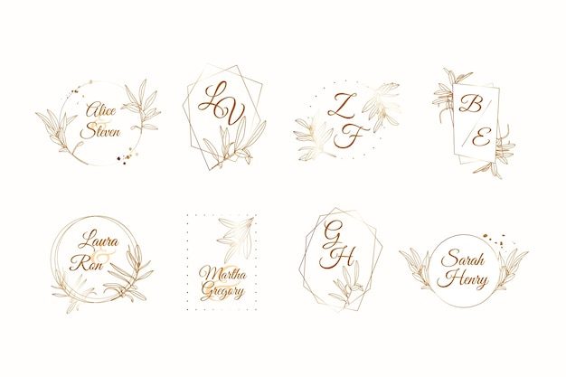 Elegant wedding monogram collection theme