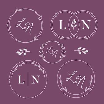 Elegant wedding monogram collection
