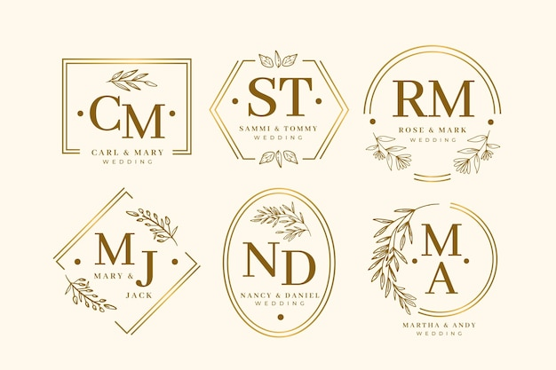 Elegant wedding monogram collection