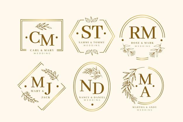 Elegante collezione monogramma di nozze