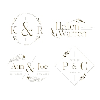 Elegant wedding monograms collection