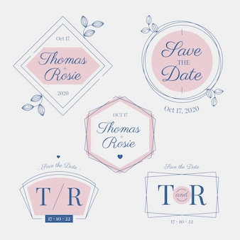 Elegant wedding monograms and logos