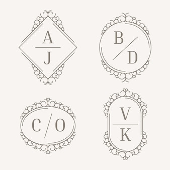 Elegant wedding monograms