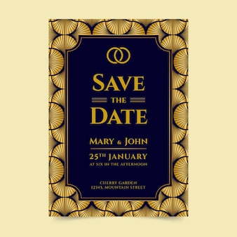 Элегантный свадебный плакат шаблон