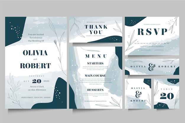 Elegant wedding stationery template style