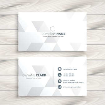 Elegant white business card design