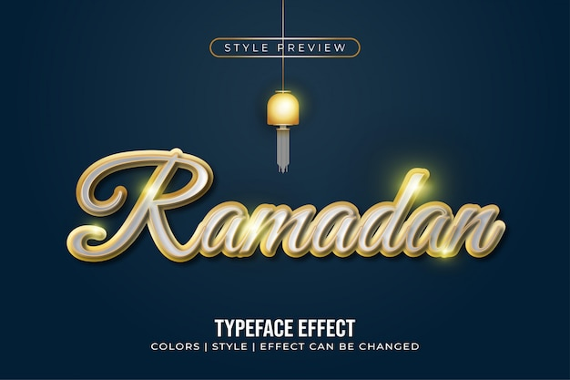 Elegant white and gold text effect