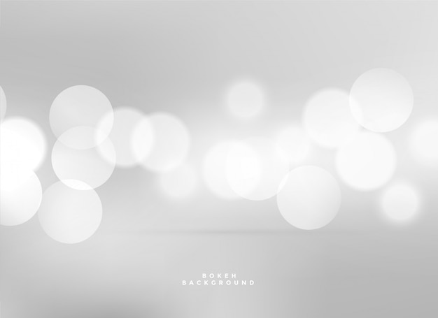 Elegant white lights bokeh background