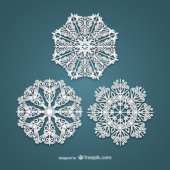 Элегантные белые снежинки