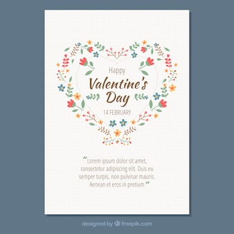 Elegant white valentine poster