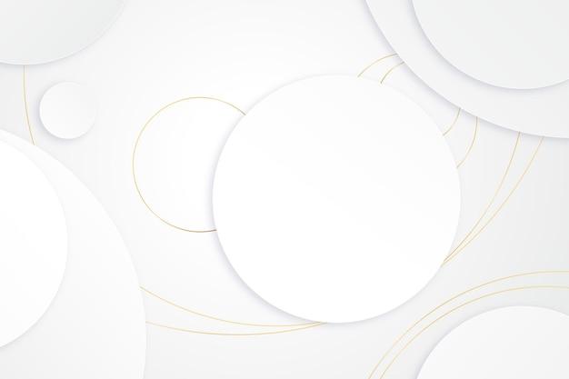 金色のディテールが施されたエレガントな白い壁紙