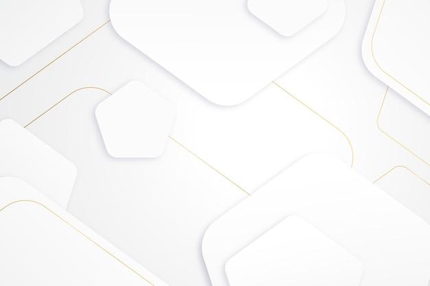 Elegante carta da parati bianca con dettagli dorati