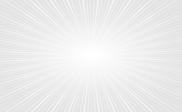 Elegant white zoom rays empty background